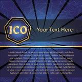 ICO i żetonu set Obrazy Royalty Free