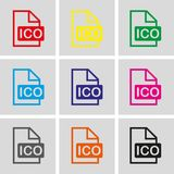 Ico icon stock vector illustration flat design Stock Photography