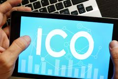 Free ICO Initial Coin Offering. Royalty Free Stock Photography - 100858677