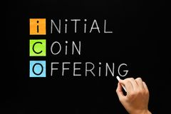 ICO - Initial Coin Offering Stock Images
