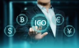 ICO Initial Coin Offering Business Internet Technology Concept.  Stock Images