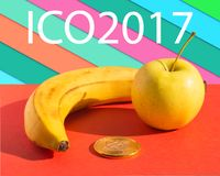 ICO 2017 Mat och finans Royaltyfri Bild