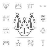 Ico social de la red Sistema detallado de iconos del esquema del trabajo del equipo Icono superior del diseño gráfico de la calid libre illustration