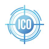 ico target sign concept Stock Photos