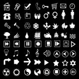 Icon 04. Vector illustration of assorted web icons Royalty Free Stock Image