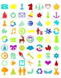 Icon_05. Illustration of a set of different icons Royalty Free Stock Photography