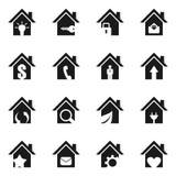 家icon6 免版税库存照片