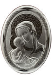 Icon. Virgin Mary And Baby Jesus Icon Isolated On White Royalty Free Stock Photo