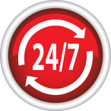 Icon, 24/7 Royalty Free Stock Images