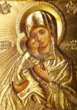 Icon. Traditional orthodox icon of Motrer Mary royalty free stock image