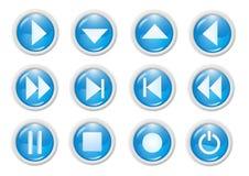 Icon. 3d blue icon symbol - web design graphics Stock Image