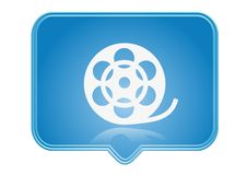 Icon. Movie reel icon over blue background Royalty Free Stock Images