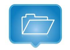 Icon. Folder icon over blue background Stock Photos