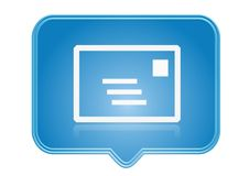 Icon. Email icon over blue background Stock Image