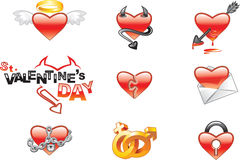 Icon. S (illustration) to the day of Valentine size larger side of 4000 pixels + is included (vector) EPS version Stock Image