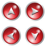 Icon - 3d button red Royalty Free Stock Photos
