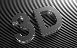 Icon for  3D video. Icon for video of the new generation Royalty Free Stock Images