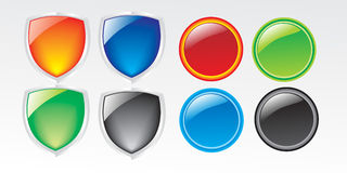 Icon. Web Icon Button Vector Illustrations Royalty Free Stock Photo