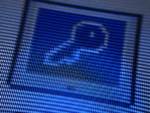 Icon. Screen Icon in blue stock photos
