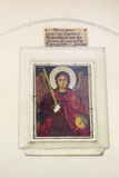 Icon above the entrance to the church Dryanovo monastery in Bulgaria Stock Images