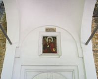 Icon above the entrance to the temple of the monastery of Dryanovo, Bulgaria Stock Photos