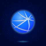 Icon of Abstract Blue Globe Royalty Free Stock Images