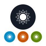 Icon abstract sun , vector illustration Stock Photo