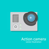 Icon an action. A chamber for video and photographing. A vector illustration in flat style Royalty Free Stock Images