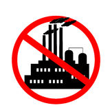 Icon against the pollution of the environment Royalty Free Stock Images