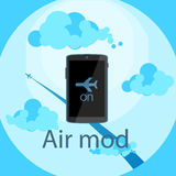 Icon air mod on on device Stock Images