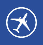 Icon of an airplane Stock Image