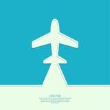 Icon airplane Royalty Free Stock Image