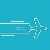 Icon airplane Royalty Free Stock Photo