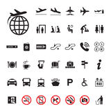 Icon Airport set Stock Photo