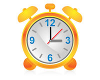 Icon alarm clock. Stock Photos