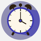 Icon alarm clock. Flat design, illustration royalty free illustration
