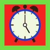 Icon alarm clock. Flat design, vector illustration, vector royalty free illustration