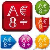Icon alphabet Stock Image