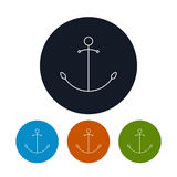 Icon  anchor, vector illustration Stock Photography
