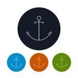 Icon  anchor, vector illustration Stock Photography