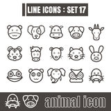Icon animal line black Modern Style vector on white background Royalty Free Stock Image