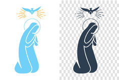 Icon  Annunciation Virgin Mary Stock Image