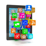 Icon app fall in laptop Royalty Free Stock Photo