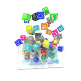 Icon app fall in tablet pc Stock Photos