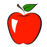 Icon of apple Stock Photography