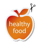 Icon apple by healthy food. Royalty Free Stock Photo