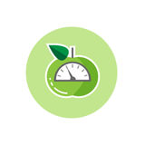 Icon with apple and scales as consept of weight loss Stock Image
