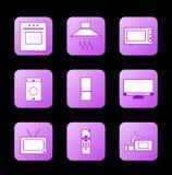 Icon appliances Stock Image