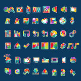 Icon application Stock Photos
