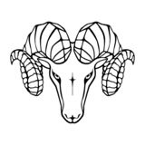 Aries head sign royalty free illustration